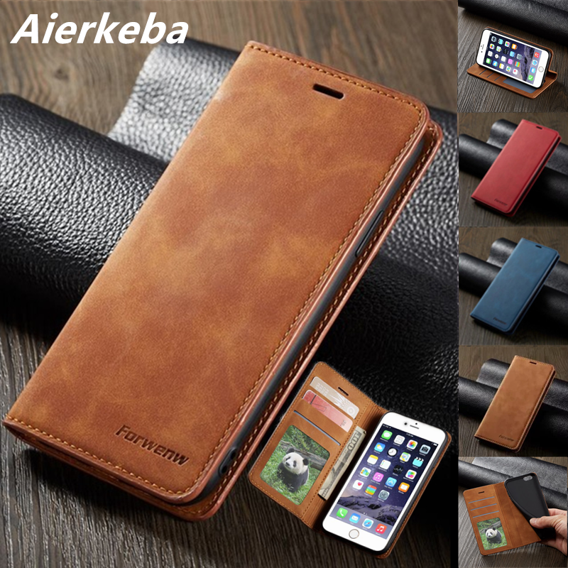 Magnet <font><b>Leather</b></font> Case For Apple <font><b>iPhone</b></font> XS 11 Pro Max XR X 10 Flip Wallet Card Holder Book <font><b>Cover</b></font> for <font><b>IPhone</b></font> 8 7 <font><b>6</b></font> 6s Plus 5 5s SE image