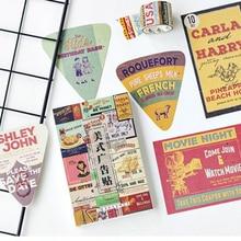 5Packs/Lotแฟชั่นการออกแบบโฆษณากล่องข้อความโปสการ์ดอุปกรณ์สำนักงานMiniโปสการ์ดกระดาษขายส่ง