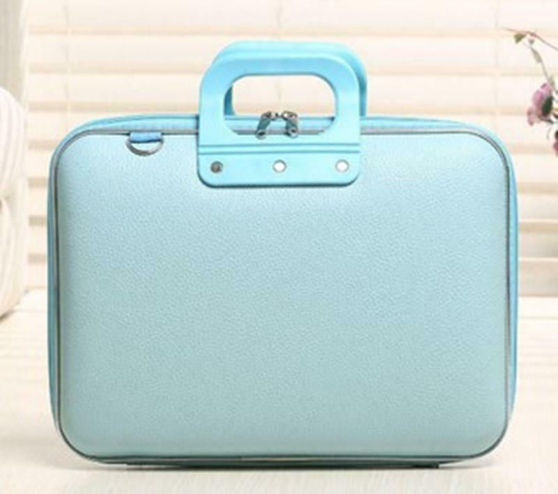 PU Leather Hard Shell Briefcase Handbag Laptop Bag Tablet  13.3