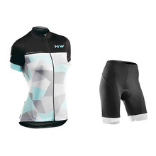 woman Cycling Jersey Pro Team NW Ropa Ciclismo Hombre Triathlon Set MTB Clothing Northwave Bib Pants