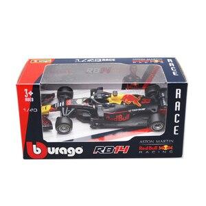 Image 2 - Bburago, brinquedo infantil, 1/43 1:43 2018 rb14 red bull verombro no33 f1 fórmula 1 racing carro diecast display, modelo de brinquedo para crianças meninos meninas