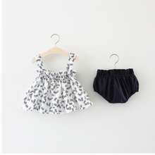 Kids Newborn Baby Girls Sleeveless Printed Tank Tops + PP Shorts Outfits 2pcs Toddler Baby Girl Summer New Clothes Set newborn baby girl clothes sleeveless tops shorts 2pcs outfits set 0 18m girls rompers clothing