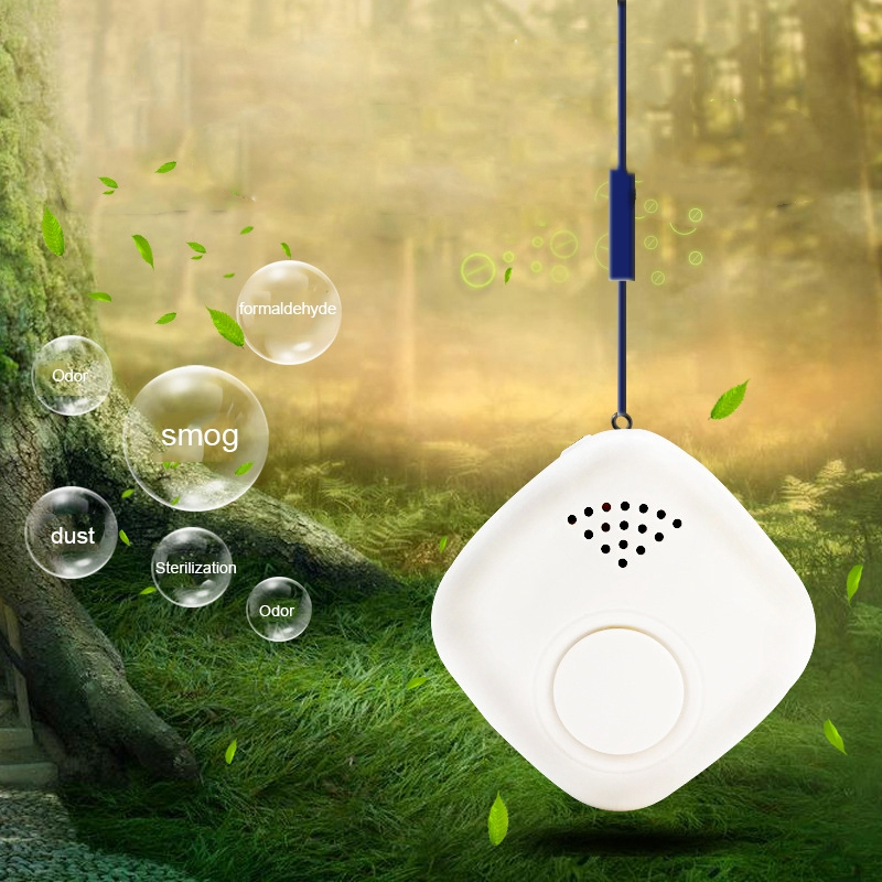 Wearable Air Purifier Cleaner Portable Negative Ion Air Freshener Remove Formaldehyde PM2.5 Benzene Smoke For Car/Home