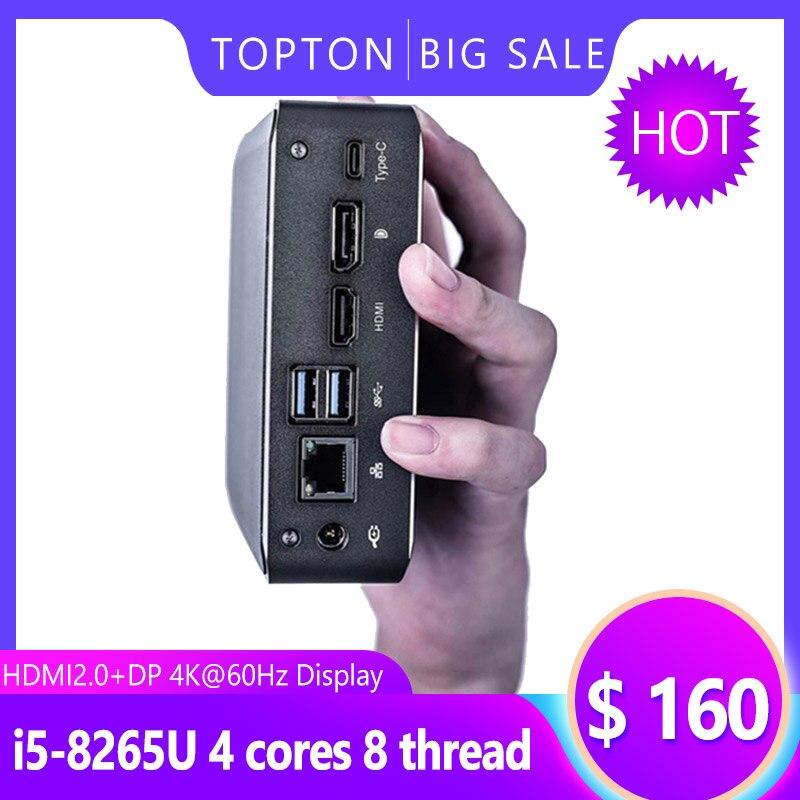 Mini Game PC Core I7-8565U I5-8265U I3-8145U 2*DDR4 RAM M.2 NVME SSD Pocket PC Nuc Computer Windows 10 Pro Type-c 4K HDMI2.0 DP