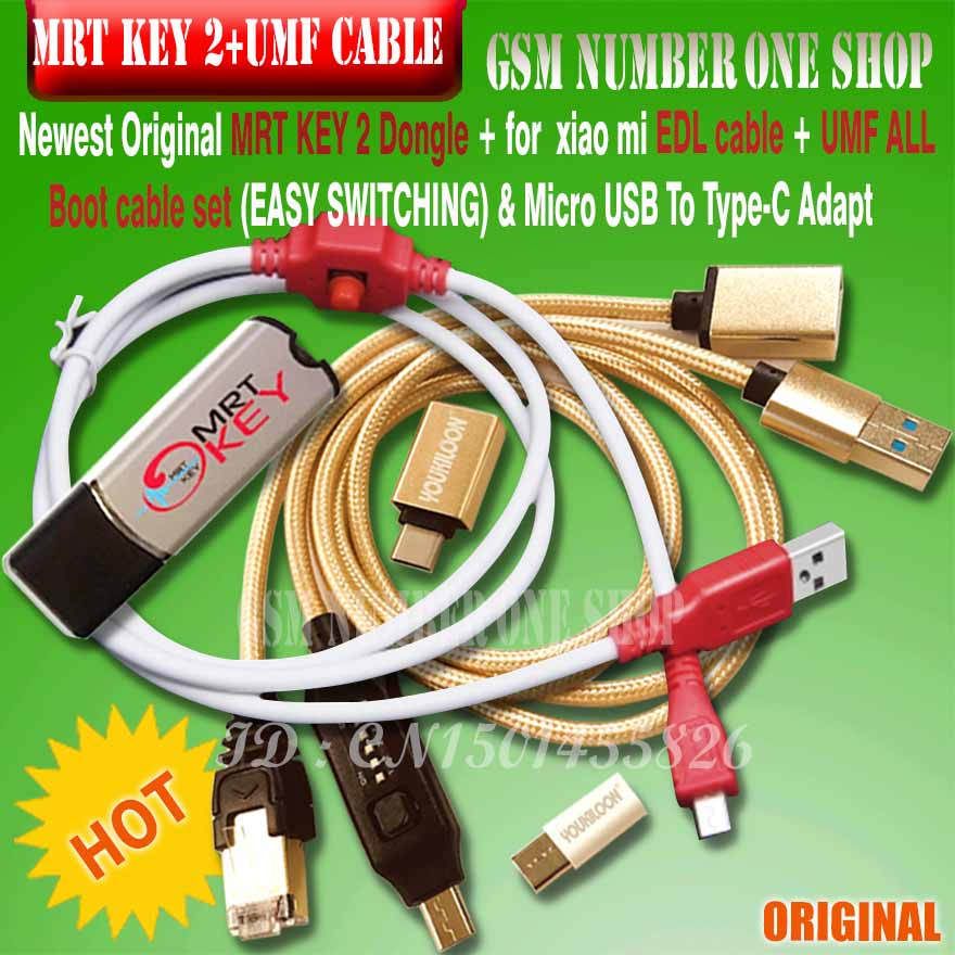 MRT KEY 2 MRT DONGLE KEY Mrt Key 2 + For Xiaomi Hongmi 9008 Cable For Coolpad Hongmi Unlock Account Remove Password Imei Repair