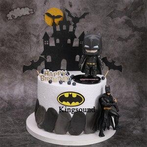 Подарки на 1-й день рождения, Детские вечерние принадлежности, фигурки Бэтмена, игрушки, вечерние украшения торта на день рождения, украшени...