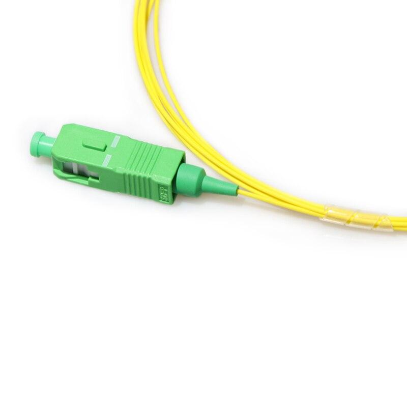 10 шт. SC/APC одномодовая косичка SM OS2 G652D, G657A1, G657A2 0,9 мм 1 м 1,5 м 2 м волоконно-оптическая косичка LSZH желтая
