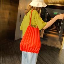 New women's bag Fold pack Pure color Canvas bag Environmental protection shopping bag Simplicity portable Single shoulder
