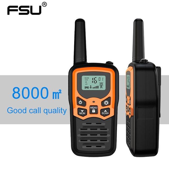 (2pcs) mini Palmare Walkie Talkie Radio Portatile Ad Alta Potenza VHF Portatile Bidirezionale Ham Radio Communicator Transceiver рация 5 KM