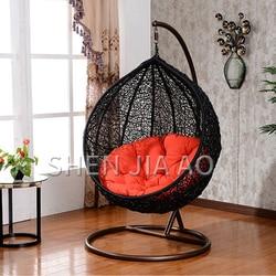 1 шт., подвесные корзины для отдыха, подвесные стулья из ротанга, для взрослых, балконное кресло-качалка, кресло-качалка для улицы, плетеное, о...