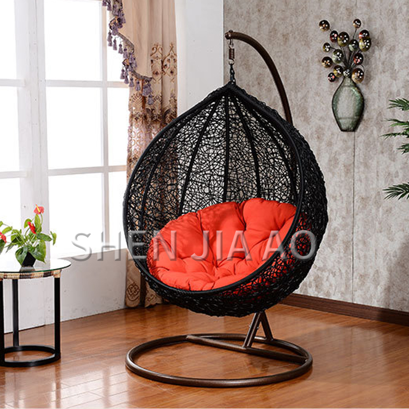 1PC Leisure Hanging Baskets Rattan Hanging Chairs Adult Balcony Rocking Swing Chair Outdoor Garden Wicker Single Hanging Chair