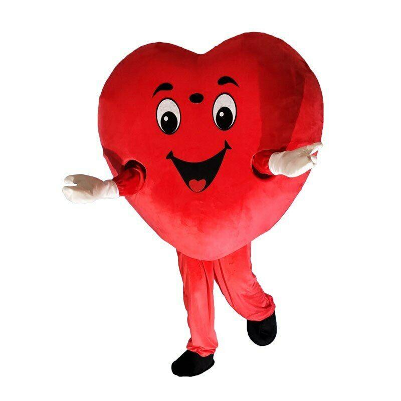 Coeur rouge amour mascotte Costume costumes Cosplay fête déguisements tenues vêtements carnaval Halloween pâques Festival adultes défilé