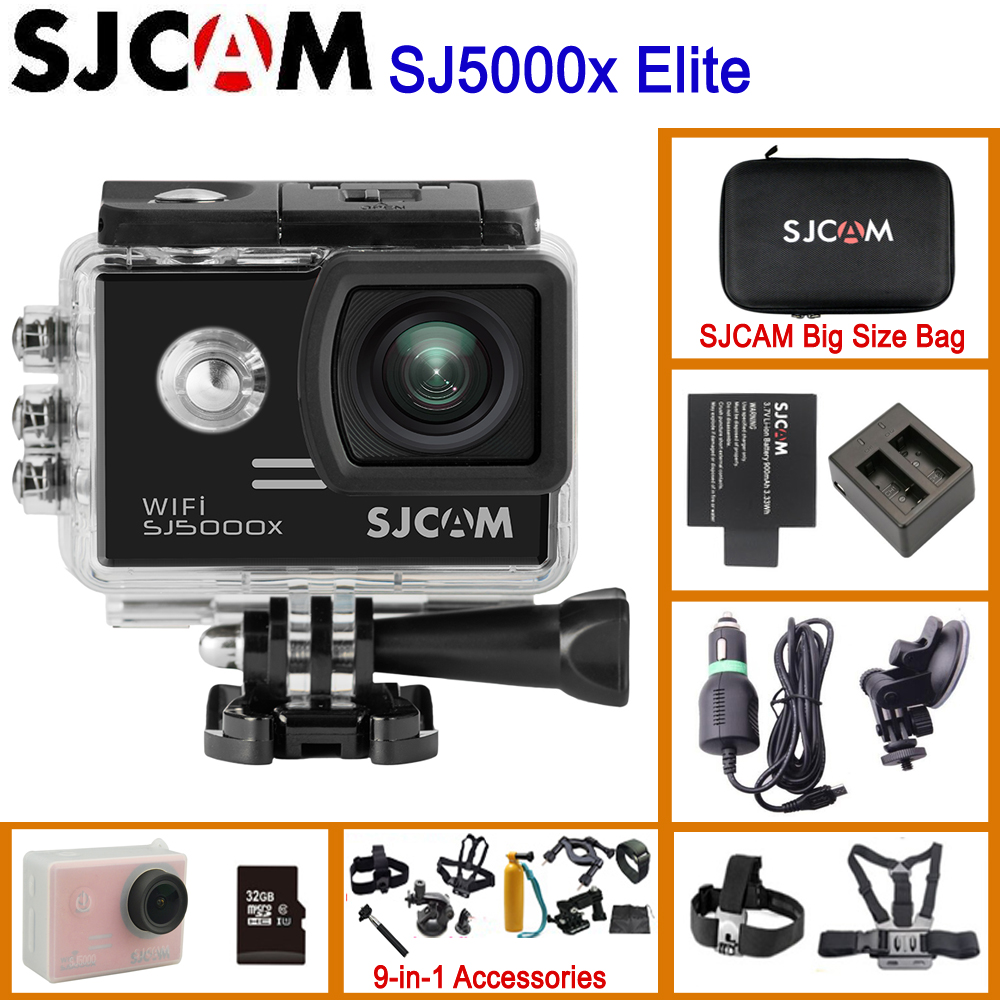 SJCAM SJ5000x Elite WiFi 4K 24fps 2K30fps Gyro Sports DV 2,0 LCD NTK96660 погружение 30 м Водонепроницаемая экшн Оригинальная камера