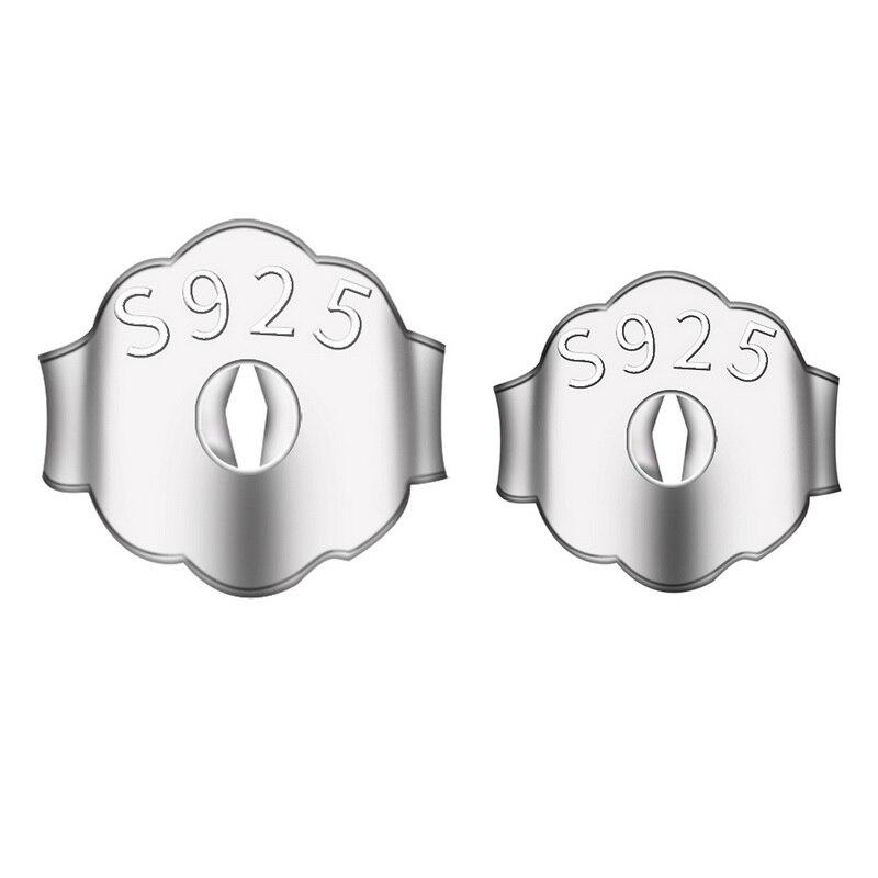Подлинное Настоящее чистое Твердое Серебро 925 пробы фиксатор для серег защитные спины ювелирные аксессуары DIY части затычки уха
