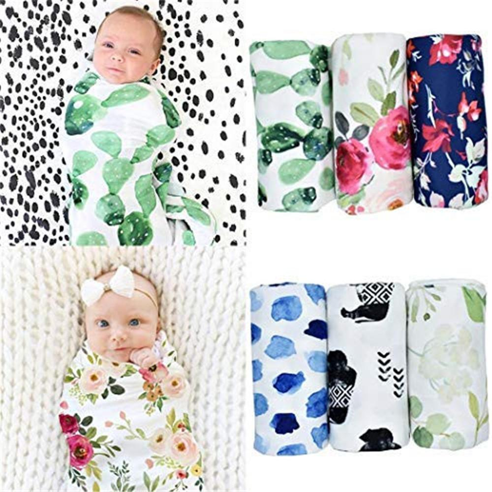 Floral Printed Muslin Wrap Newborn Infant Baby Boy Sack Swaddle Sleeping Bag Receiving Blankets Swaddle Accesorios Fotografia