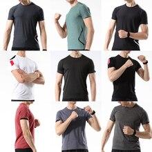 2020 summer Sport T Shirt Gym Men Short Sleeve Running Workout Training Tees Fitness Top T-shirt White
