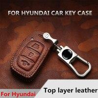 Echtem Leder Auto Schlüssel Abdeckung Für Hyundai I10 I20 I30 Tucson Creta IX20 IX25 IX35 Sonata Verna Solaris Santa Elantra mistra HB20-in Schlüsseletui für Auto aus Kraftfahrzeuge und Motorräder bei