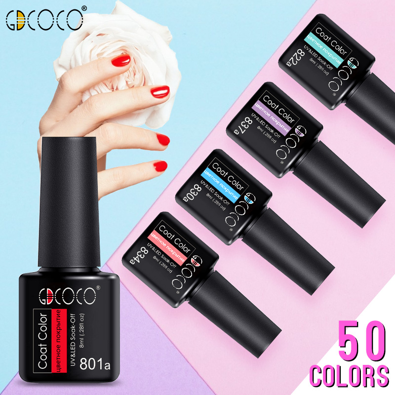 8ML Cheaper Price Color Gel Polish GDCOCO Nail Gel Varnish High Quality Primer Soak Off UV LED Gel Nail Polish No Wipe Top(China)