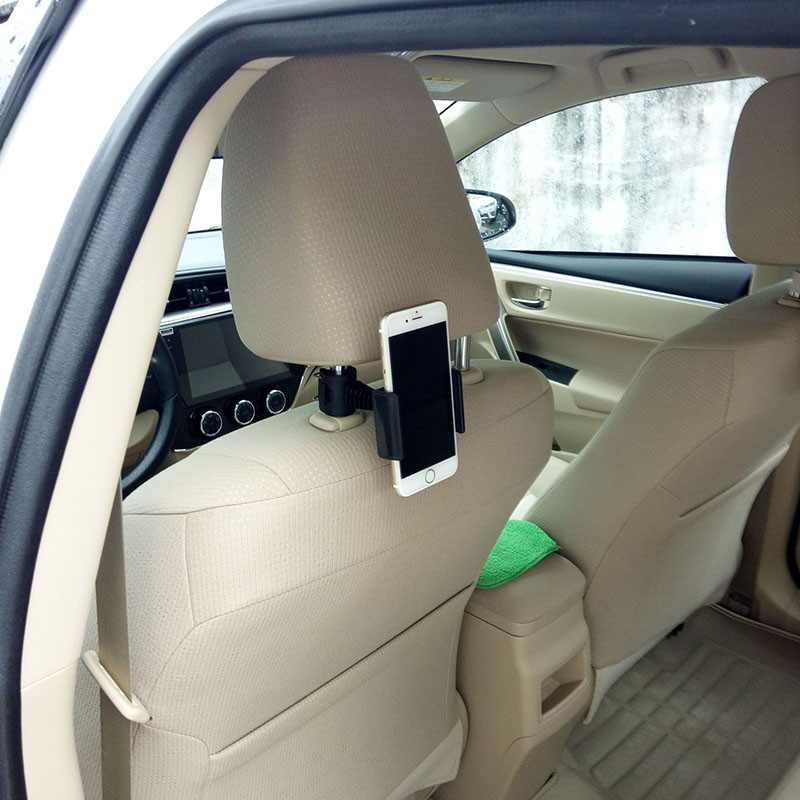 Car Phone Holder Car Rear Seat Headrest Lazy Bracket 360 Degree Rotation Adjust Car Accessories Auto Product