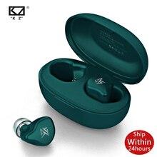 KZ S1 S1D TWS אמיתי אלחוטי Bluetooth 5.0 אוזניות דינמי/היברידי אוזניות מגע בקרת רעש מבטל ספורט אוזניות Z1 s2