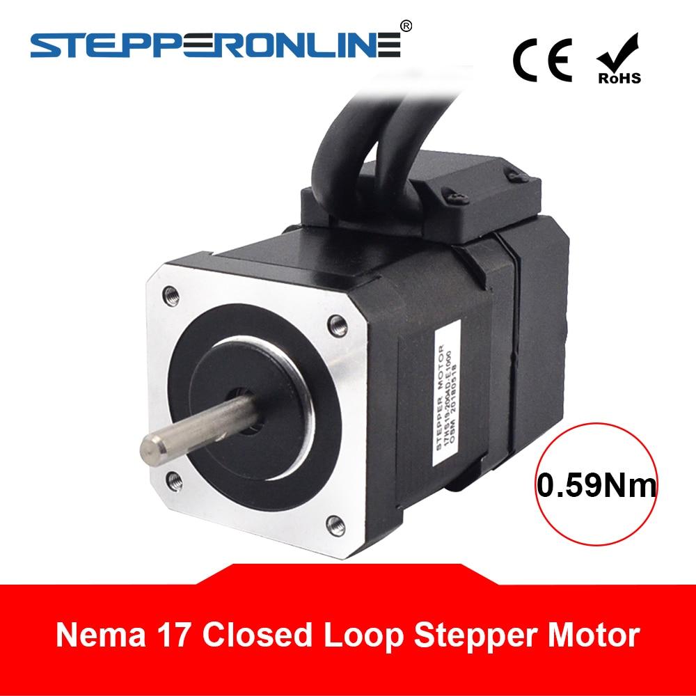 NEMA17 Single Shaft 2A//84oz-in Stepper 17HS19