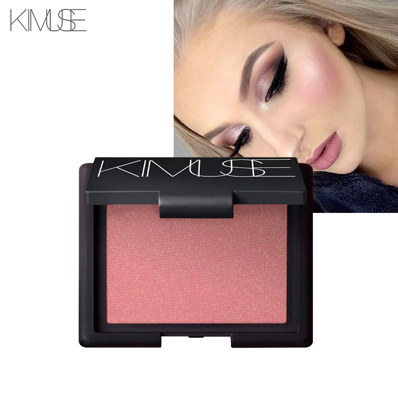 KIMUSE Single Blush Glitter Blush High Quality Long-lasting Easy To Wear Make Up Face Blusher Face Powder Face Rouge
