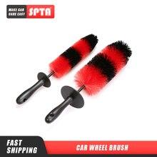 """SPTA cepillo de rueda de 18 """", limpiador de llanta Flexible, forma de cohete, productos de limpieza para coche, herramientas de lavado para limpieza de ruedas automática"""
