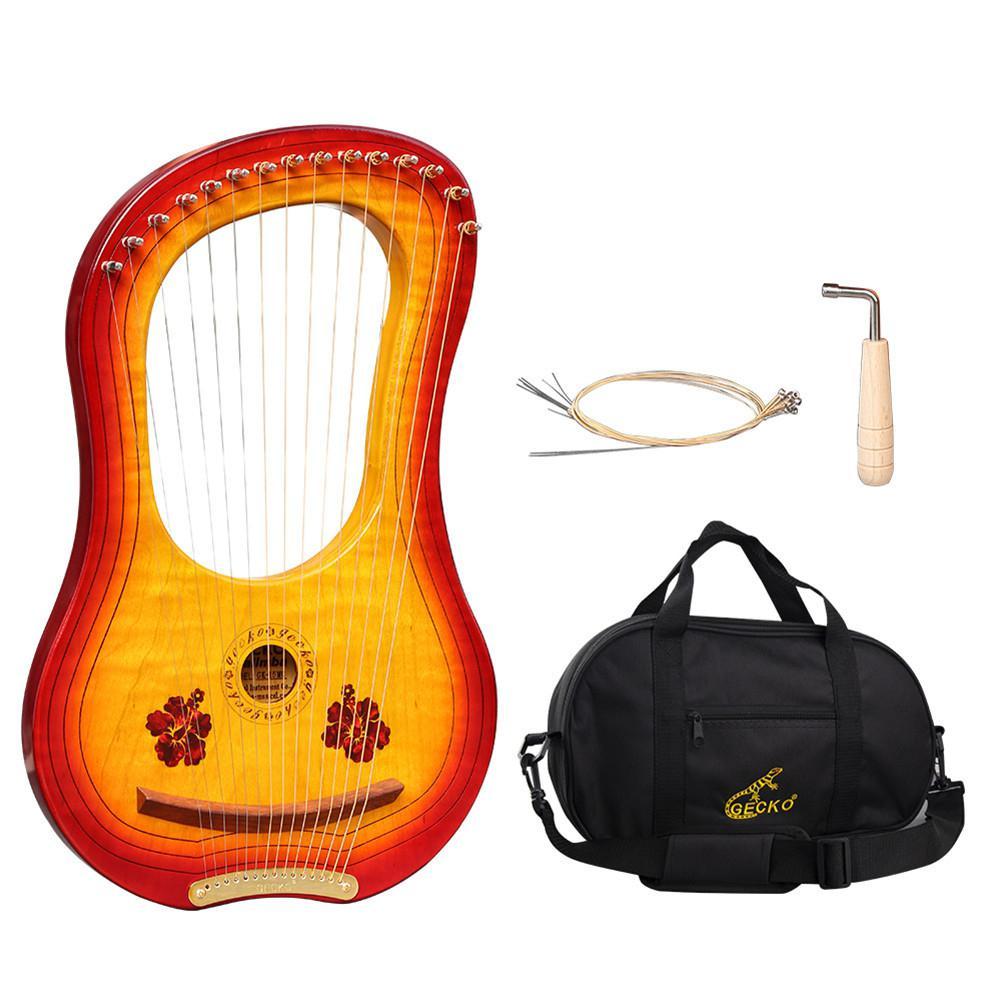 Hohe qualität GK 15MC 15 String Holz Leier mit Wasserdichte Tragen Tasche String Instrument Set