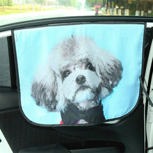 Cute Cat Deer Window Sunshade Curtain Car Window Curtain Universal Car Windshield Sunshade Side Adjustable Protector Solar Coche