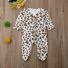 MUQGEW 2019 Romper For Newborns Infant Baby Girl Boy Leopard Print Cute Floral Jumpsuit Clothes baby meisje roupas