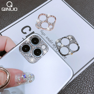 Bling Diamond Camera Lens Protector For iPhone 11 Pro Max Glitter Rhinestone Camera Protective Ring For iPhone 11 Pro Max Cover(China)
