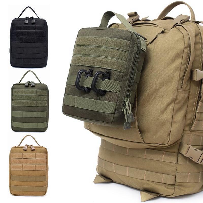 Military Medical Bag Utility EDC Pouch Nylon Accessory Tool Handbag Survival Hunting Backpack Molle Attachments Pack Tactical