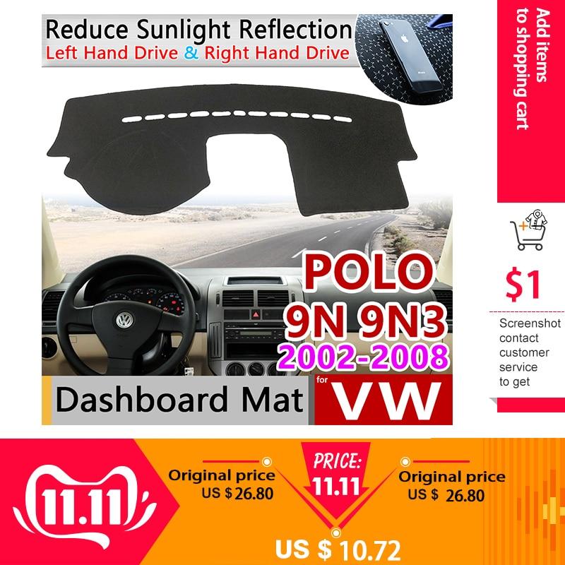 For Volkswagen VW POLO MK4 2002~2008 9N 9N3 Anti-Slip Mat Dashboard Cover Pad SunShade Dashmat Carpet Accessories 2003 2007 2008