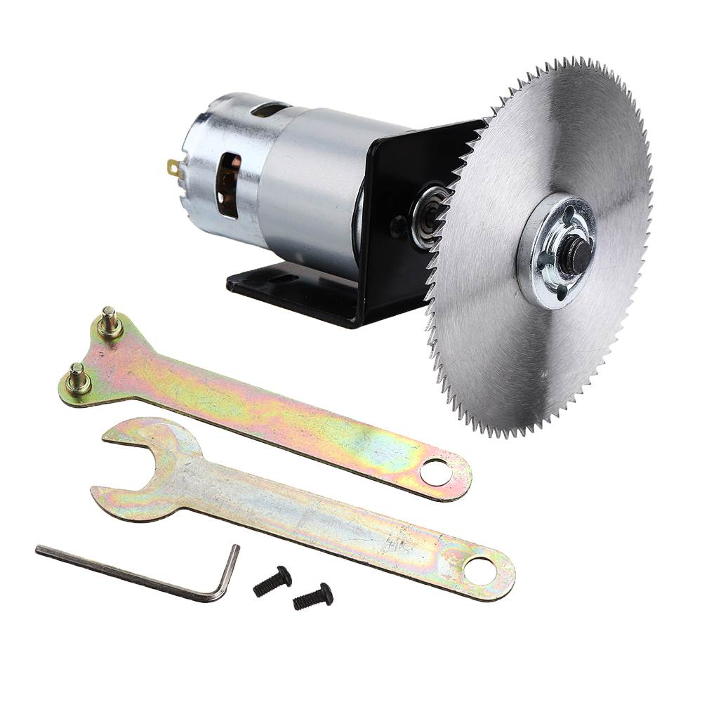 DC 12-24V Lathe Press 895 Motor Table Saw Kit With Bracket And Saw Blade For Woodworking Cutting Tool Set
