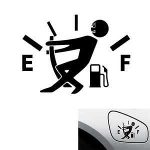 1PC Black/ White Funny Car Sticker Pull Fuel Tank Pointer Reflective Car Stickers Decal