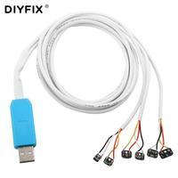 Cable de prueba de corriente de entrada USB DIYFIX para iPhone X/8/8 P/7/7 Plus/6/6 S/6 S Plus/5S/5|Juegos de herramientas manuales| |  -