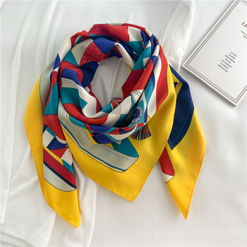 90*90cm Square Scarf Twill Cotton Feeling Women Head Shawls and Wraps Luxury Print Neck Scarves Hijab Bandana Pashmina - discount item  34% OFF Scarves & Wraps