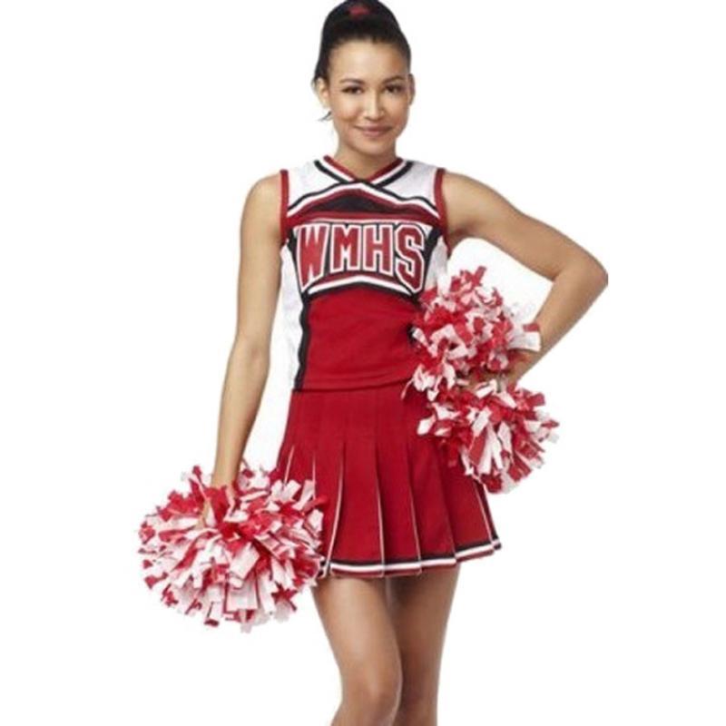 Adult Cheerleader Costume Women Basketball Football Game Cheerleading Costumes Fancy Short Dress Girl High School Red Uniform