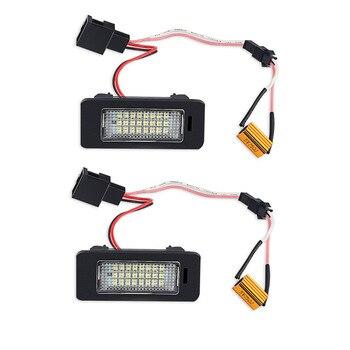 2 uds. Luces de LED para placa de matrícula blancas para coche 12V para Audi A4 B8 A5 Q5 S5 TT S4 RS5 A6 luces de matrícula Led sin errores