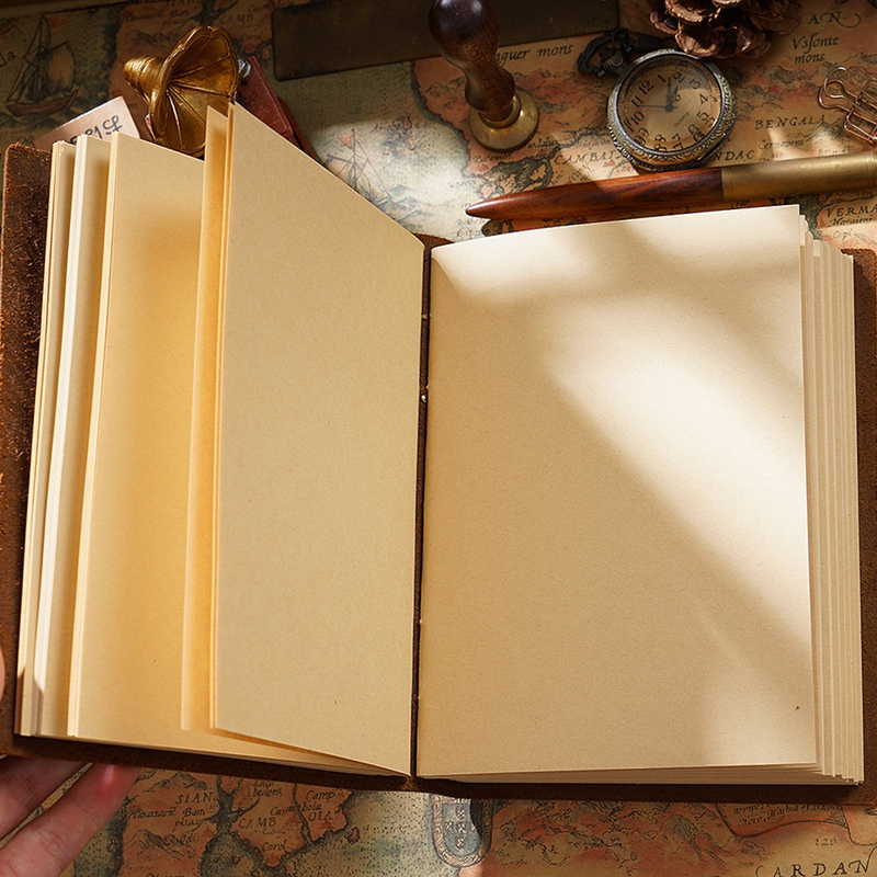 Retro Handmade Notebook Sketch Retro Leather Notepad Eco Paper Creative Notebook-1Pcs