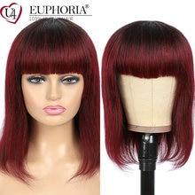 Прямые волосы Омбре блонд парики бразильские remy 100% человеческие