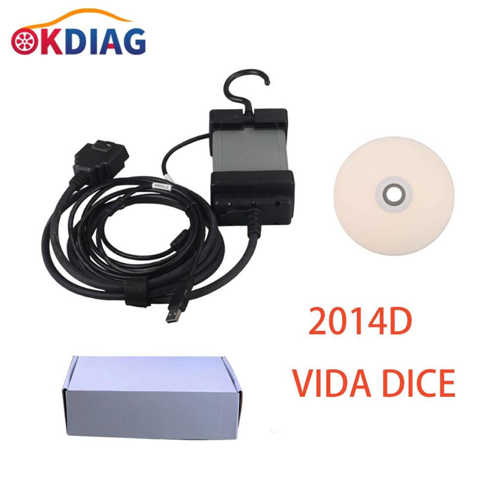 2021 новейшие модели 2014D VIDA DICE диагностический инструмент Многоязычный тестер ОС WIN7 32/64 Профессиональный сканер