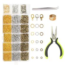 цена на METABLE Jump Ring Kit,2313pcs Open Jump Necklace Rings with Lobster Clasp for Jewelry Making Beginner Hand Craft DIY Necklace