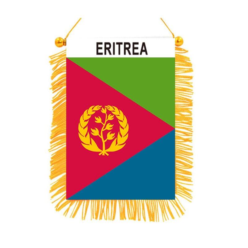 Двусторонние черные подвесные мини-флаги в Эритрею, высококачественный Печатный флаг, домашний декор, баннер