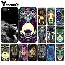 Yinuoda Dier Leeuw Wolf Uil Olifant Leeuw Tiger Phone Case Voor Huawei Honor 8X 9 10 20 Lite 7A 5A 7C 10i 9X Pro Play 8C(China)