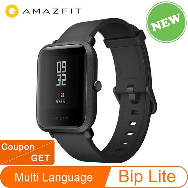 Globale Version Amazfit Bip Lite Huami Smart Uhr 1,28 zoll Dispaly Wasserdichte 45 tage Batterie Lebensdauer Neue Ankunft