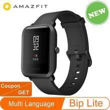 Globalna wersja Amazfit Bip Lite Huami inteligentny zegarek 1.28 calowy wyświetlacz wodoodporny 45 dni żywotność baterii New Arrival