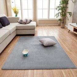Sala de estar tapete de algodão de memória curta tapete sofá mesa de café quarto antiderrapante casa à prova de som cinza