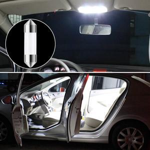 Image 1 - 1PC C5W COB Auto LED Birne 41/39/36/31mm Automotive Innen Lesen Licht Weiß lizenz Platte Licht 12v Auto Licht Montage