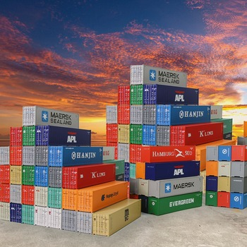 Full set action figure 1/50 40'REFRIGERATED SEA CONTAINER Transport Series DM Engineering Vehicle ToyModel Toys цена 2017